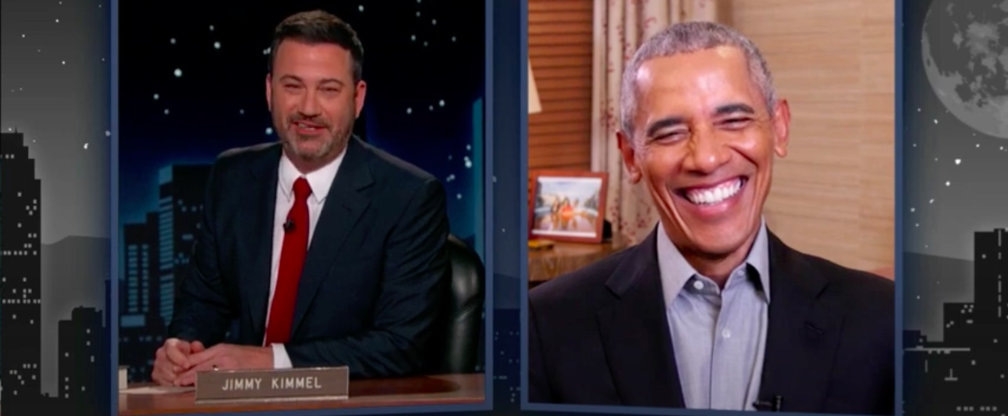 Obama Talks New Book With Jimmy Kimmel