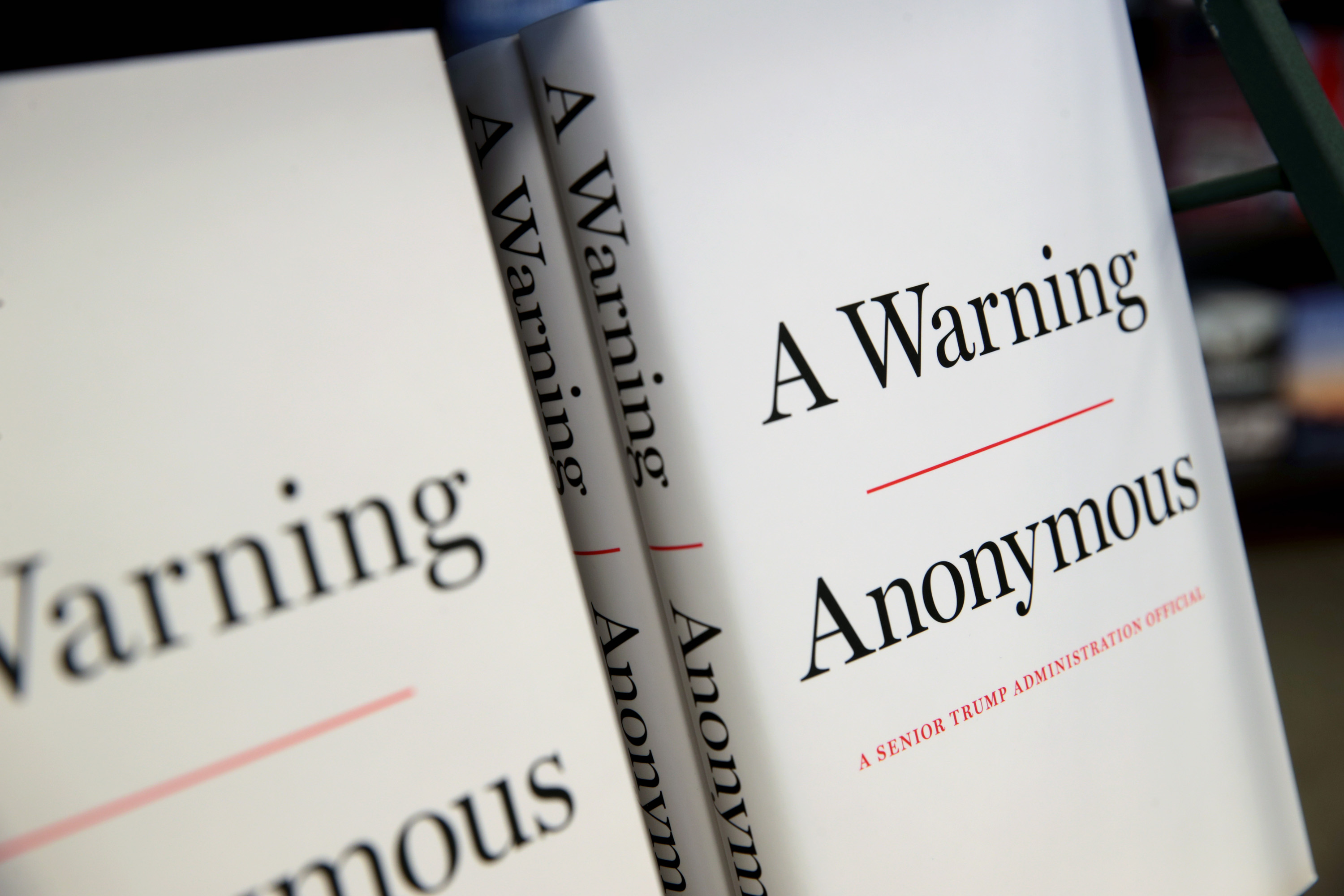 Anonymous Author of A Warning Will Reveal Identity Before 2020 Election