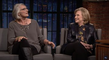 Clinton, Penny Talk New Thriller With Seth Meyers