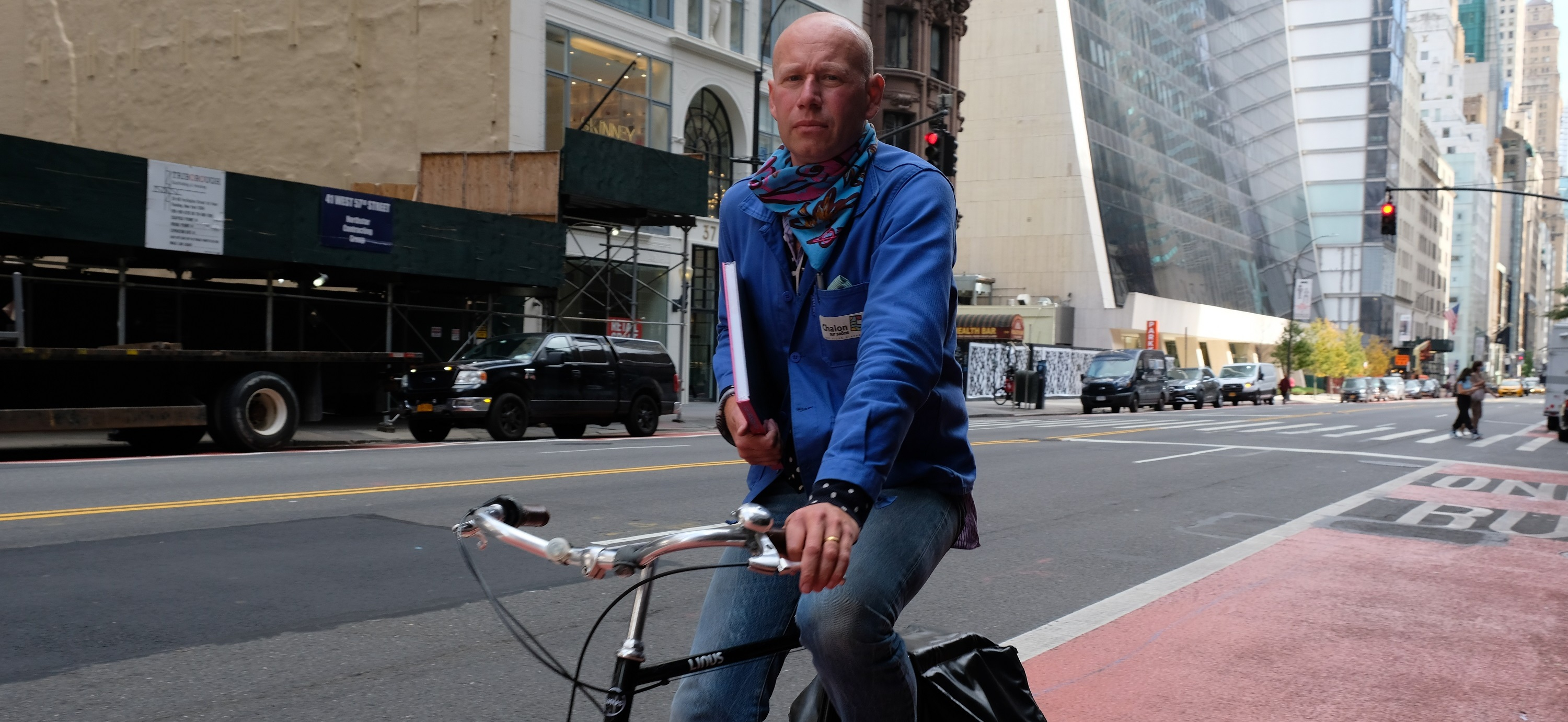 NYC Artist Delivers His Book in Person, on a Bike