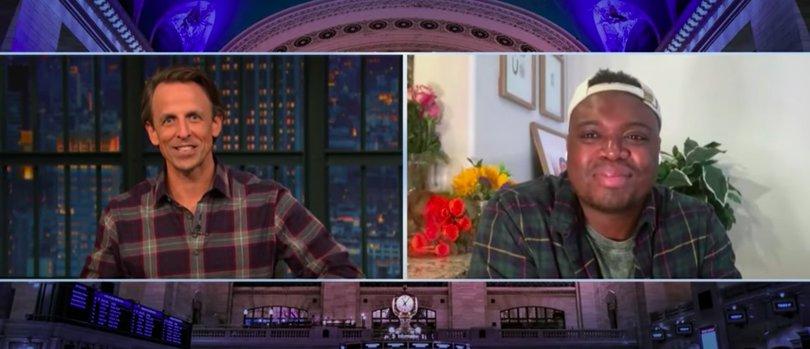 Bryan Washington Talks With Seth Meyers