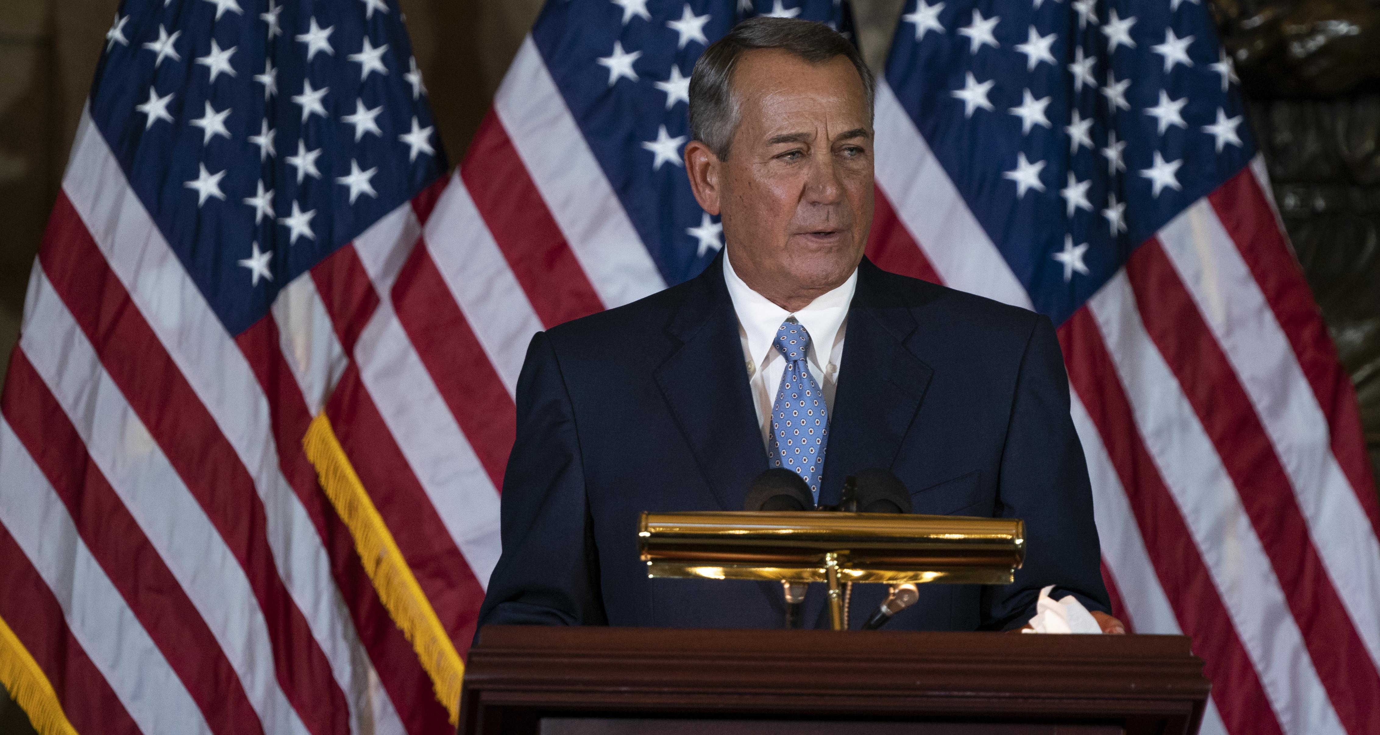 John Boehner's Memoir Coming in 2021