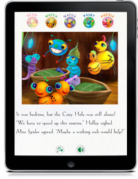 MISS SPIDER'S BEDTIME STORY FOR THE iPAD by David Kirk