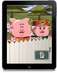 THREE LITTLE PIGS 3D by Doug Franck Wolf