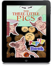 THE THREE LITTLE PIGS AND THE SECRETS OF A POPUP BOOK  by L. Leslie Brooke