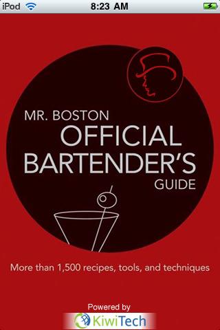 MR. BOSTON OFFICIAL MOBILE BARTENDER'S GUIDE